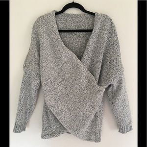 Sweaters - CROSSOVER MARLED SOFT SWEATER 💓